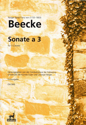 Beecke, Notger I. F. von (1733-1803): Sonate a 3