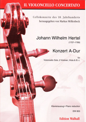 Hertel, Johann Wilhelm (1727- 1789): Konzert A-Dur (1755)<br>- Klavierauszug