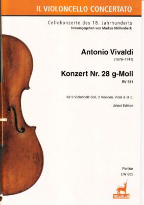 Vivaldi, Antonio (1678–1741): Konzert Nr. 28 g-Moll RV 531<br />– Partitur