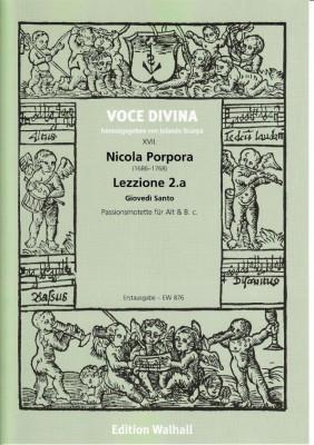 Porpora, Nicola (1686–1768): Lezzione 2.a Giovedi Santo