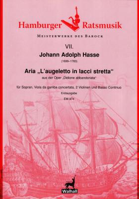 """Hasse, Johann Adolph (1699–1783): Aria """"L'augeletto in lacci stretta"""""""