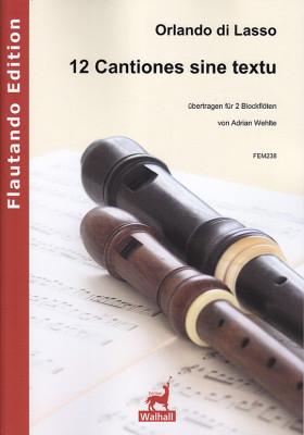 Lasso, Orlando di (1532–1594):12 Cantiones sine textu