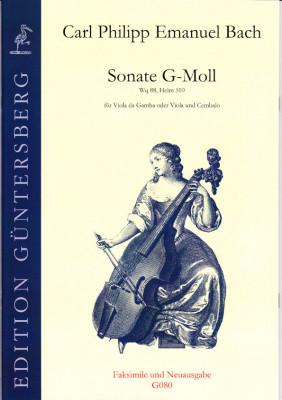 Bach, Carl Philipp Emanuel (1714-1788): Sonata g minor Wq 88