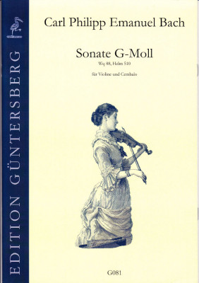 Bach, Carl Philipp Emanuel  (1714-1788): Sonate g-Moll