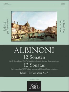 Albinoni, Tommaso (1671–1751): 12 Sonaten – Sonaten 5–8