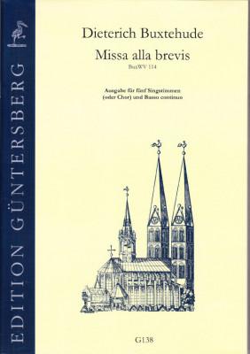 Buxtehude, Dieterich (1637-1707): Missa alla brevis<br>- Vokalausgabe (original)