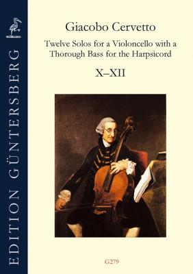 Cervetto, Giacobo (1682–1783): Twelve Solos op. 2<br>Sonaten X–XII