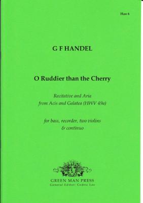 Händel, Georg Friedrich (1685-1759): O Ruddier then the Cherry!