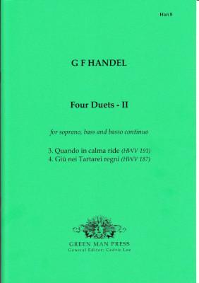 Händel, Georg Friedrich (1685-1759): Vier Duette - I & II<br>- Band I (HWV 187, 191)