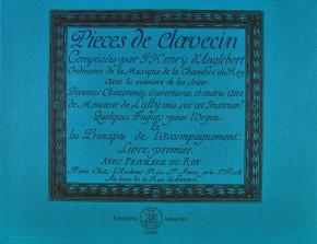 D'Anglebert, Jean Henry (1635–1691): Pièces de clavecin