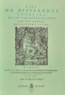 BALLARD, Pierre (c.1575–1639): [imprimeur/éditeur] Airs VIII 1618