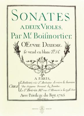 BOISMORTIER, J.B. Bodin de (1691–1755): Sonates à deux violes