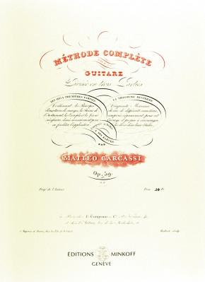 CARCASSI, Matteo (c.1792–c.1853): Méthode complète