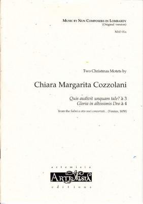 Cozzolani, Chiara Margarita (1602-~1677): Zwei Weihnachtsmotetten<br>- Originalausgabe für gem. Chor