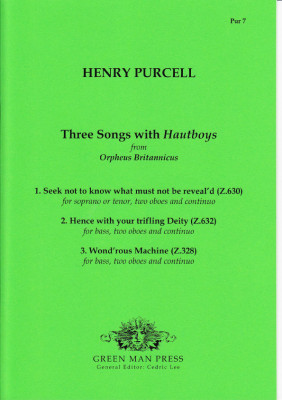 Purcell, Henry (1659-1695): Songs with Hautboys from Orpheus Britannicus