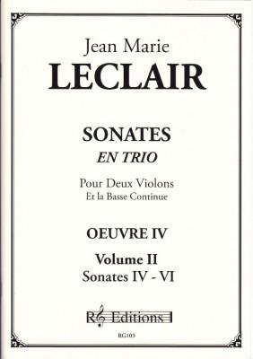Leclair, Jean Marie (1697- 1764): Sonates en trio, op. 4<br>- Band II  Sonaten 4 - 6