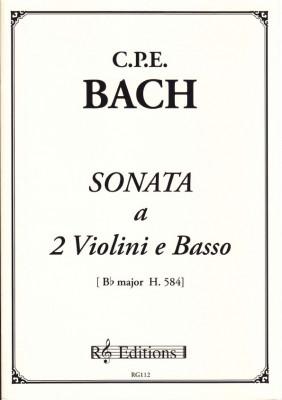 Bach, Carl Philipp Emanuel (1714-1788): Sonata a 2 Violini e Basso