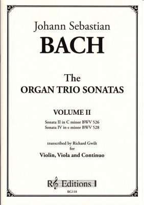 Bach, Johann Sebastian : Organ Trio Sonatas<br>- Band II (Violine & Viola)