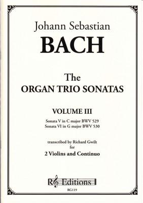 Bach, Johann Sebastian : Organ Trio Sonatas<br>- Band III (2 Violinen)