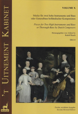 'T Uitnement Kabinet (Amsterdam 1646, 1649): 17 Works for Two Melody Instruments and Basso – Volume X