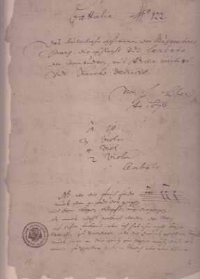Biber, Heinrich Ignaz Franz (1644-1704): Battalia à 10 for 3 violins, 4 violas, 2 violions & b. c .,
