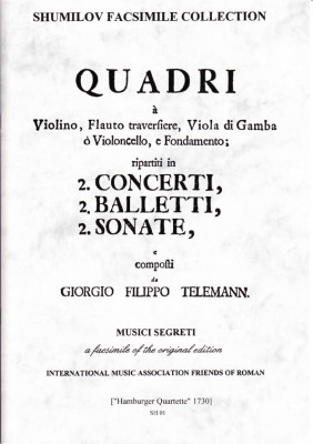 Telemann, Georg Philipp (1681-1767): Quadri