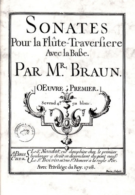 Braun, Jean Daniel (18. Jh.): 6 Sonates