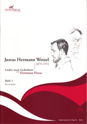 Wetzel, Justus Hermann (1879–1973): 42 Lieder nach Gedichten von Hermann Hesse - Band 1 (26 S.)