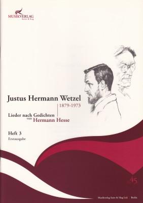 Wetzel, Justus Hermann (1879–1973): 42 Lieder nach Gedichten von Hermann Hesse - Band 3 (32 S.)