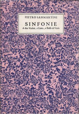 Sanmartini, Pietro (1636–1701): Sinfonie op. 2