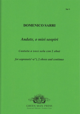 Sarri (Sarro), Domenico (1679–1744): Andate, o miei sospiri