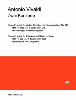 Vivaldi, Antonio (1678–1741): 2 Konzerte RV 316, 580 (B. c.-Stimme (ausgesetzt))